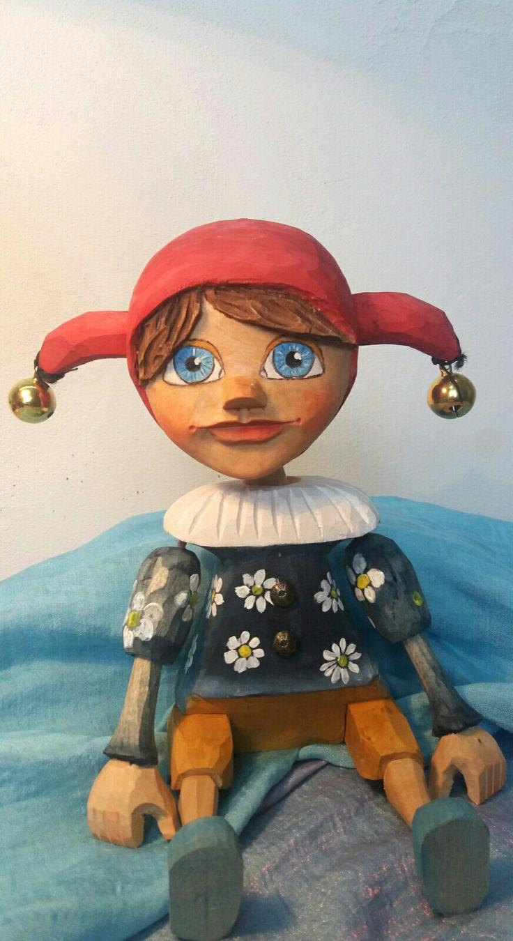 Marionette of jester, loutka, kašpar, was born 2018