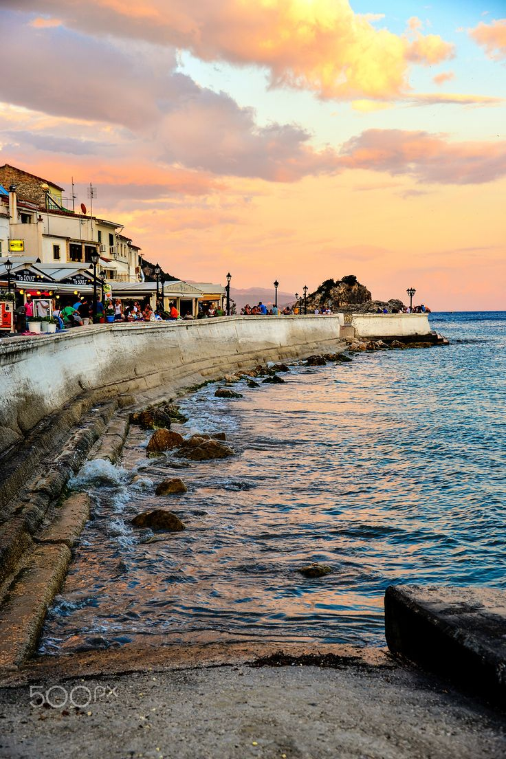 Sunset in Parga, Greece