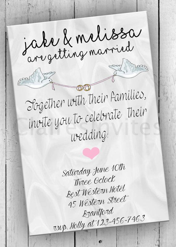 Wedding Party Invitation Printable Bridal by PartyPrintableInvite