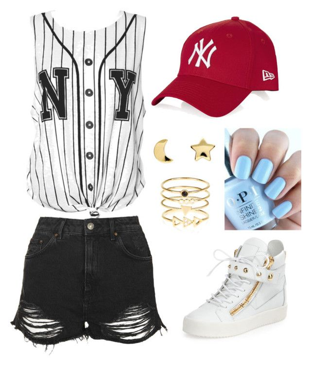 """GOT7 Home Run inspired"" by hoshisuki1015 ❤ liked on Polyvore featuring Topshop, Giuseppe Zanotti, Erica Weiner and Accessorize"