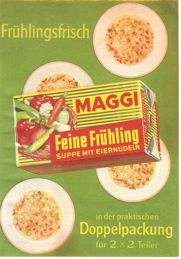Wenn es mal schnell gehen musste, waren Maggi Suppen wie ...