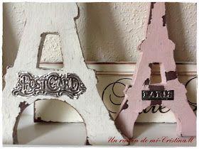 Un rincón de mi: Figuras Torre Eiffel, románticas... ideales para regalar o decorar