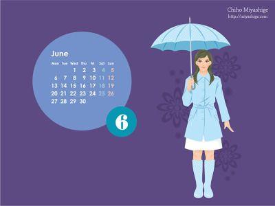 デスクトップ壁紙カレンダー2011~2012 前半