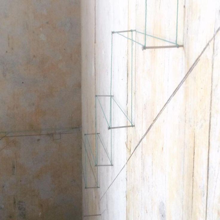 Model 1 : 1 for steel staircase of a loft in Gaeta .