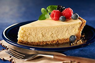 This sooo easy.  I add a heaping tablespoon of sour cream to make it more like a New York style cheesecake.PHILADELPHIA 3-Step Cheesecake recipe