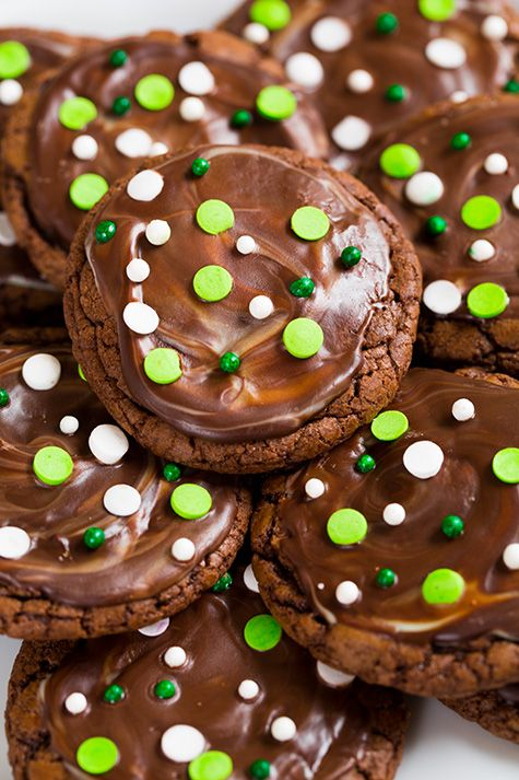 Andes Mint Cookies - a holiday must have recipe. Chocolate, minty cookie perfection!