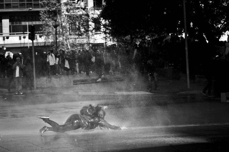 Protest, Santiago de Chile by Manuel Alejandro Venegas Bonilla