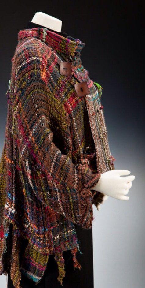 Hand woven saori jacket  peace flags by saorisantacruz on Etsy, $578.00