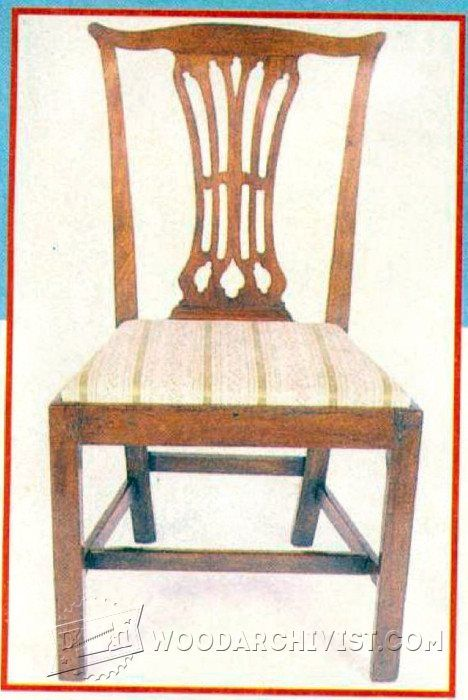chippendale chair plans furniture plans and projects rh pinterest com