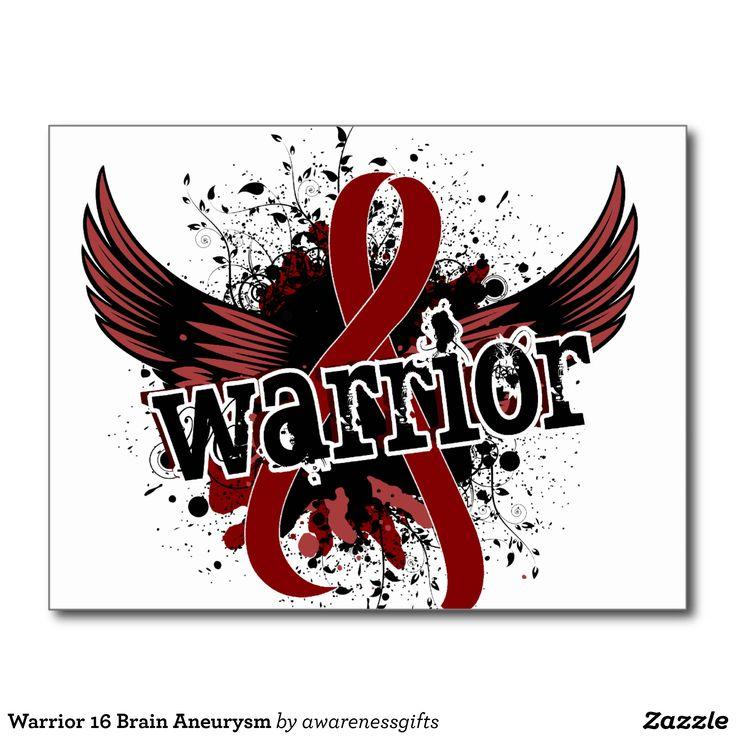Warrior 16 Brain Aneurysm Postcard