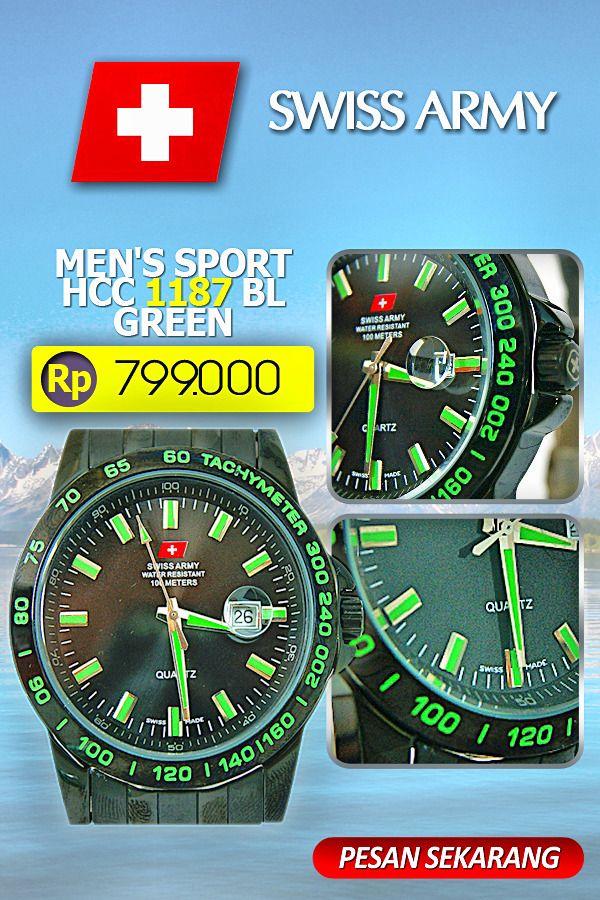 Swiss Army Men's Sport SA HCC 1187 BL GREEN  #jam tangan #toko belanja online fashion #toko online jam tangan #jam tangan swiss army #