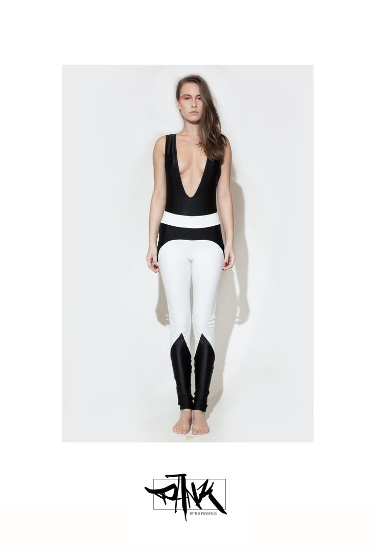 These leggings are made of black and white spandex.  100% sweatshop free, made in EU with love.  For surprises and infos check out our Facebook page:  https://www.facebook.com/PANKbythePussPuss