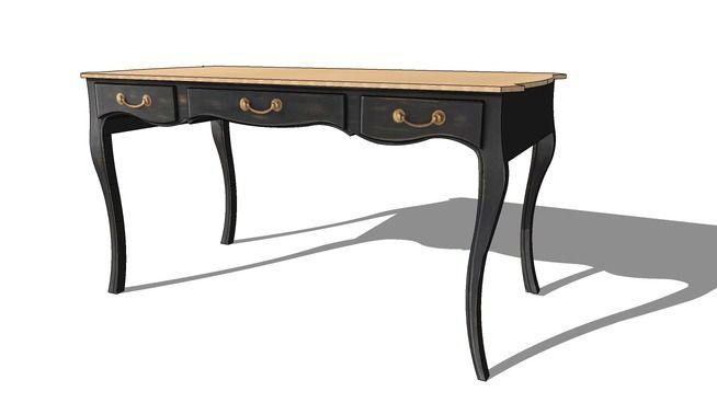 bureau versailles maisons du monde r f prix 549 3d warehouse sketchup. Black Bedroom Furniture Sets. Home Design Ideas