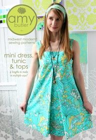 Amy Butler Sewing Pattern, Mini Dress, Tunic & Top