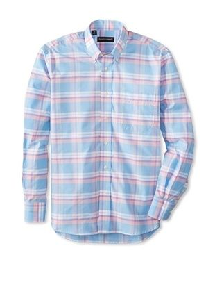61% OFF Kenneth Gordon Men's Plaid Button-Down Sportshirt (Multicolor)