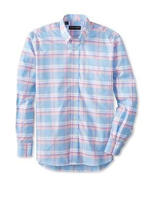 61% OFF Kenneth Gordon Men's Plaid Button-Down Sportshirt (Multicolor)