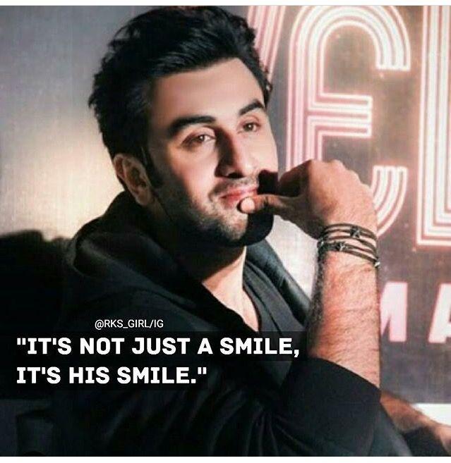 It's not just a smile, it's Ranbir Kapoor's smile..... Love U RK❤️