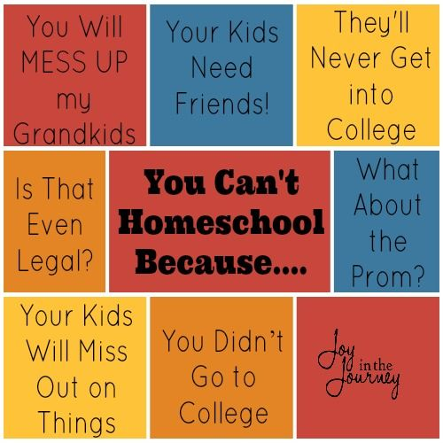Think You Can't Homeschool? Think again! Sharing all the reasons you think you can't, and sharing reasons why you CAN!