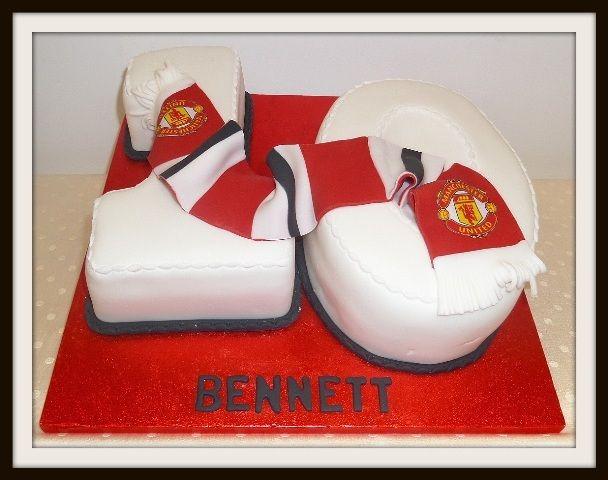 number 10 manchester united cake