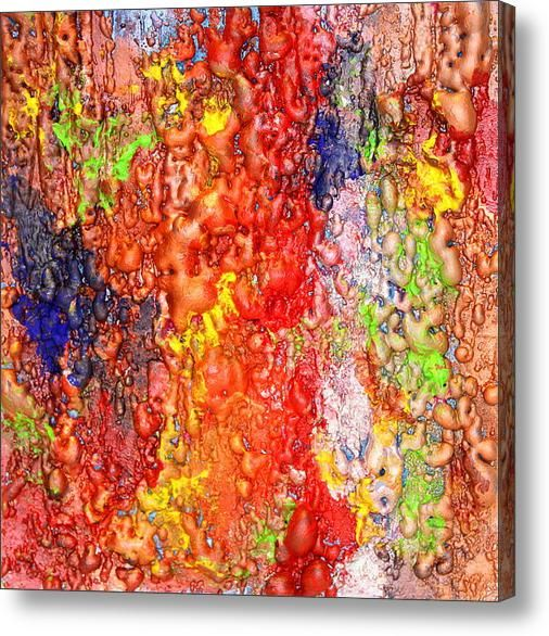 #Colorful #MixedMedia #Canvas #Pinting / #Sculpure #Art By #JuliaApostolova