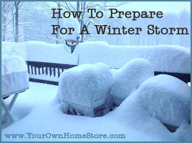 Preparing your home and family for a big winter storm.  It can be especially scary, especially if you lose power!  http://www.yourownhomestore.com/how-to-prepare-for-a-winter-storm/