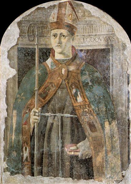St. Ludovico  Piero della Francesca Italian 1416-1492 Early Renaissance 1460 fresco,  the Civic Museum of Sansepolcro, Italy
