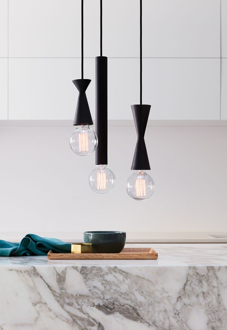 The Beacon Lighting Zinc 1 light medium pendant in matte black.