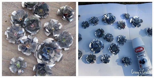 How to make metal flowers out of soda cans