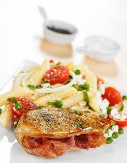 Fylt kylling med pastasalat | www.greteroede.no | www.greteroede.no
