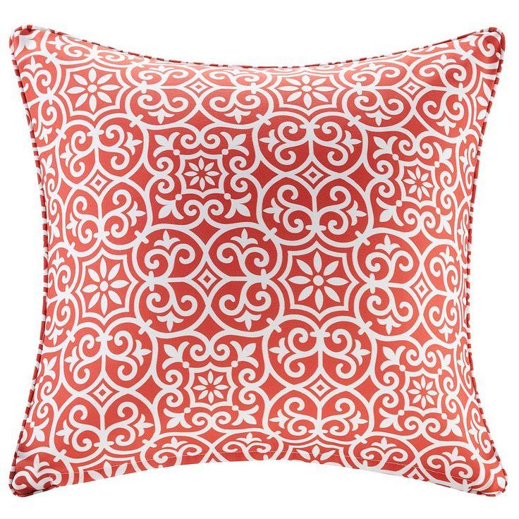 Madison Park 3M Scotchgard Outdoor Medium Throw Pillow, Red