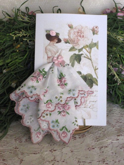 Spring Is In The Air Hanky Card