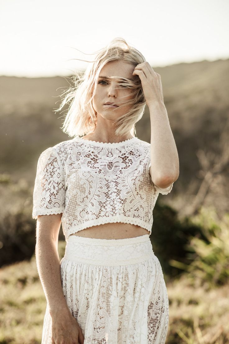 BILLIE - Two Piece Wedding Dress Handmade with Vintage Lace by MaggieMayBridal on Etsy https://www.etsy.com/listing/500114770/billie-two-piece-wedding-dress-handmade