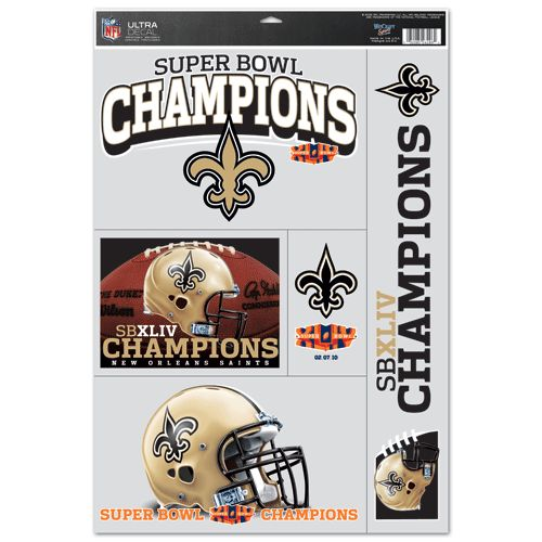 "New Orleans Saints Super Bowl 44 11""x17"" Multi Decal Sheet"