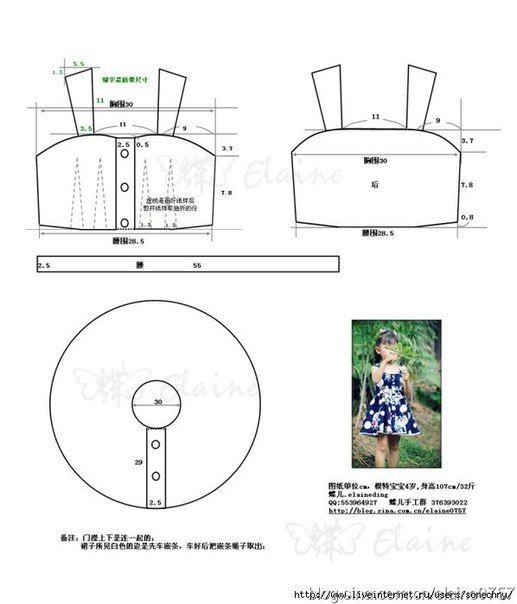 Moldes para hacer vestidos para niñas