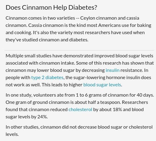 Does Cinnamon Help Diabetes? Benefits and Interactions
