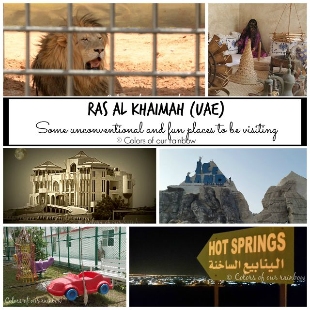 Ras al Khaimah - Places to visit- RAK ZOO , ICELAND WATER PARK, RAK MUSEUM and the HAUNTED HOUSE