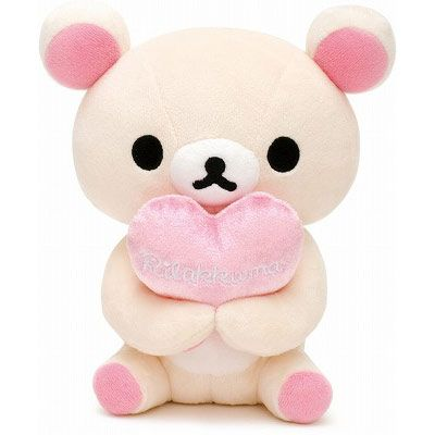 This super cute #Rilakkuma bear holds a heart or anything else of that size in its paws.