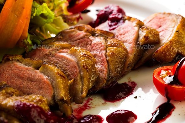 Duck baked with vegetables and herbs - Stock Photo - Images Download here : https://photodune.net/item/duck-baked-with-vegetables-and-herbs/20085765?s_rank=18&ref=Al-fatih
