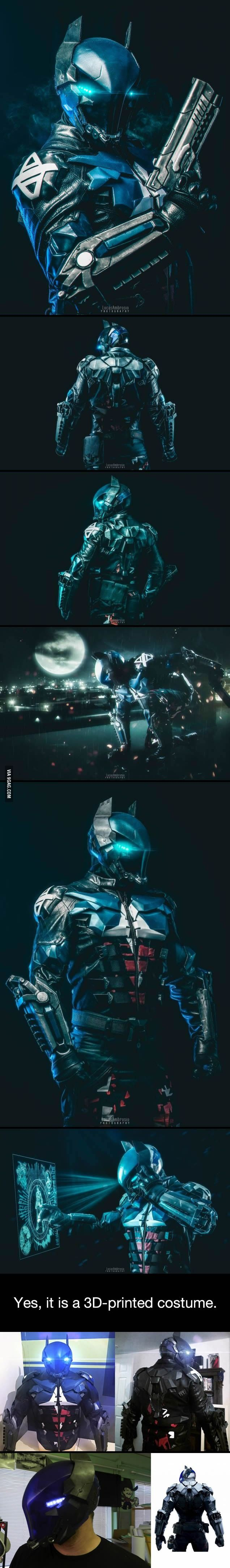 This 3D-printed Arkham Knight costume is just too boss - www.facebook/groups/humor9