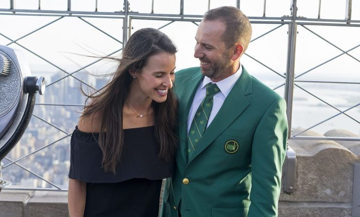 Sergio Garcia and his wife share adorable first pictures of their wedding