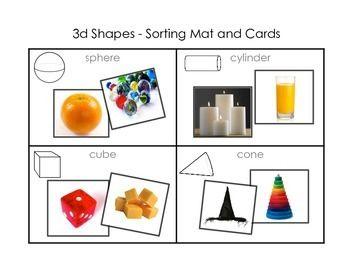 3d shape sorting mat and cards mathtastic shape sort 3d shapes kindergarten 3d shapes. Black Bedroom Furniture Sets. Home Design Ideas