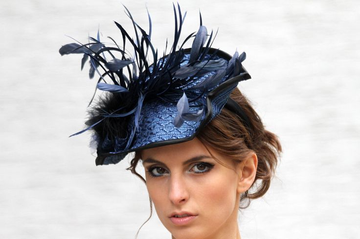 Cobalt blue hat, Kentucky derby fascinator, Royal Ascot hat, Wedding guest headpiece, Couture hat, party hat, church hat, derby fascinator by IrinaSardarevaHats on Etsy https://www.etsy.com/listing/196590851/cobalt-blue-hat-kentucky-derby