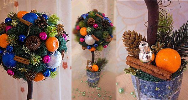 Новогодний топиарий: Мастер-класс - Блог о праздниках