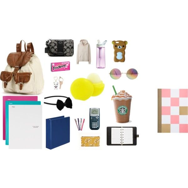 What's in my school bag-the Starbucks coffee is a must :)
