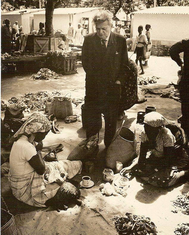 Viagem de Cascudo à África Ocidental, em 1963, em pesquisa sobre a alimentação dos escravos que vieram para o Brasil