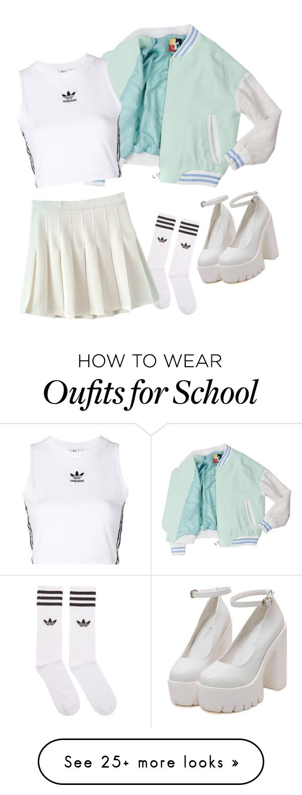 """Adidas mint aesthetics"" by clea69 on Polyvore featuring adidas Originals and adidas"