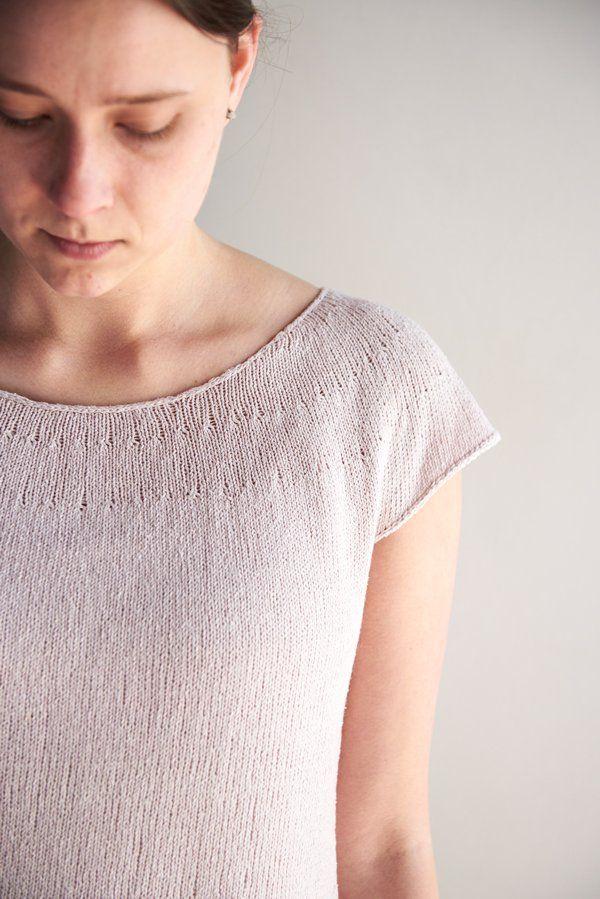 FREE Knitting Pattern • Circular Yoke Summer Shirt by Purl Soho  → https://www.purlsoho.com/create/2017/05/12/circular-yoke-summer-shirt/ #knitting