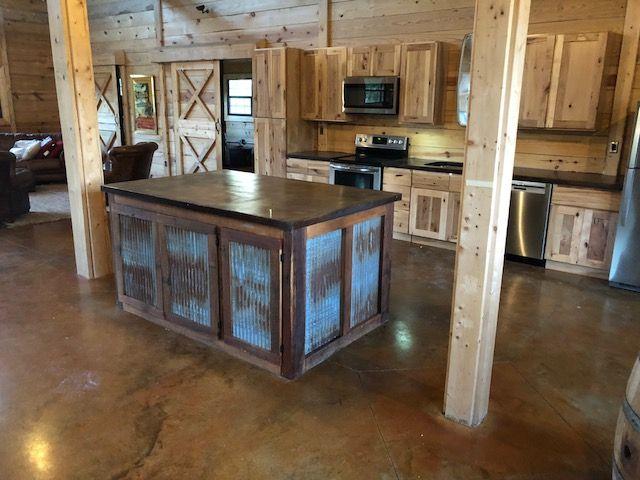 DIY Pole Barn Acid Stain Concrete Flooring