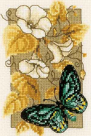 Butterfly Cross Stitch Kit By Vervaco (two)