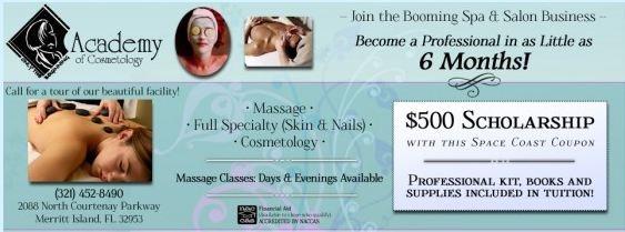 Haircut & Shampoo $5.50, Facial $9.99 High Lites $19 Style & Tint $15.50 + Other Hair & Beauty Specials, Academy Of Cosmetology Merritt Island FL  http://spacecoastcouponsofbrevard.com/coupons/academy-of-cosmetology